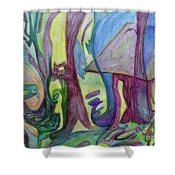 Backyard Spring Shower Curtain
