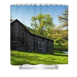 Bad Axe Barn Shower Curtain