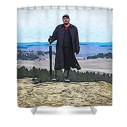 Bad Bear Standing Shower Curtain