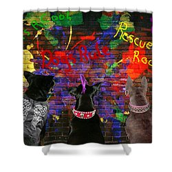 Bad Dogs Shower Curtain