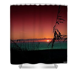 Bad East Coast Sunrise  Shower Curtain