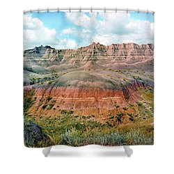 Bad Lands Shower Curtain