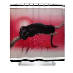 Bad Leopard   Shower Curtain