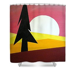 Bad Moon Rising Shower Curtain by J R Seymour