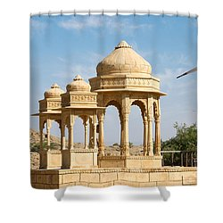 Shower Curtain featuring the photograph Bada Bagh And Windmill by Yew Kwang