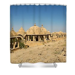 Shower Curtain featuring the photograph Bada Bagh Of Jaisalmer by Yew Kwang