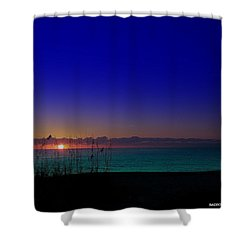 Badblue Sunrise  Shower Curtain
