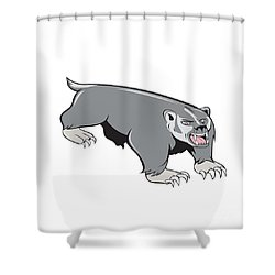 Badger Pouncing Cartoon Shower Curtain