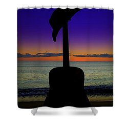 Badguitar  Shower Curtain