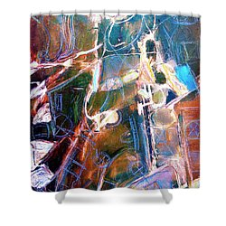Shower Curtain featuring the painting Badlands 1 by Dominic Piperata
