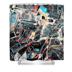 Shower Curtain featuring the painting Badlands 2 by Dominic Piperata