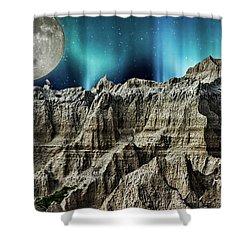 Badland's Borealis Shower Curtain