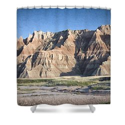Badlands Shower Curtain