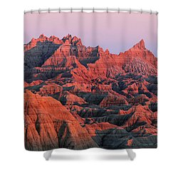 Shower Curtain featuring the photograph Badlands Dreaming by Nicholas Blackwell
