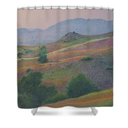 Badlands In July Shower Curtain