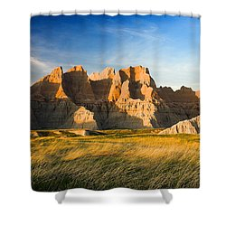 Shower Curtain featuring the photograph Badlands In Late Afternoon by Rikk Flohr