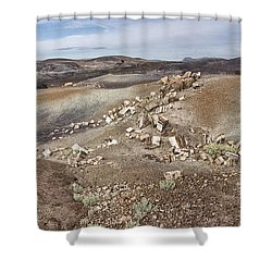 Badlands In Petrified Forest Shower Curtain by Melany Sarafis