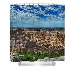 Badlands Landscape Shower Curtain