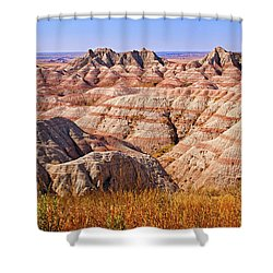 Shower Curtain featuring the photograph Badlands by Mary Jo Allen