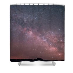 Badlands Milky Way Shower Curtain