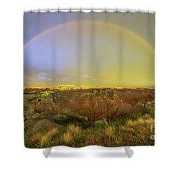 Badlands Rainbow Promise Shower Curtain