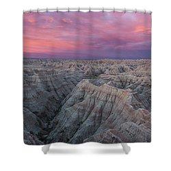Badlands Sunrise Shower Curtain