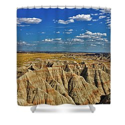 Badlands To Plains Shower Curtain