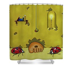 Badminton By Candlelight Shower Curtain