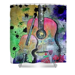 Badmusic Shower Curtain