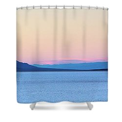 Shower Curtain featuring the photograph Badwater - Death Valley by Peter Tellone