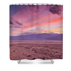 Badwater Sunset Shower Curtain