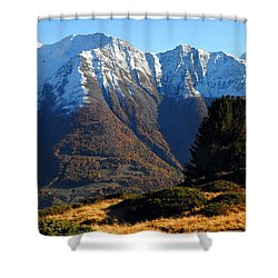 Baettlihorn In Valais, Switzerland Shower Curtain
