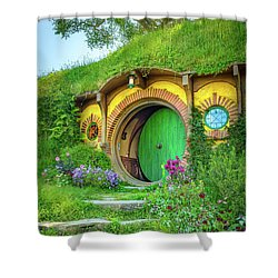 Bag End Shower Curtain by Racheal Christian