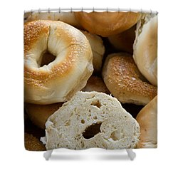 Bagels 1 Shower Curtain