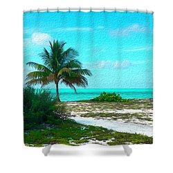 Bahama Beach Oil Shower Curtain
