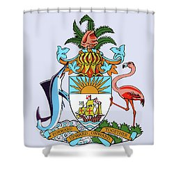 Bahamas Coat Of Arms Shower Curtain by Movie Poster Prints
