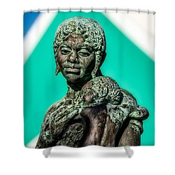 Bahamian Mother And Child Shower Curtain by Christopher Holmes
