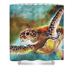 Bahamian Turtle Dove Shower Curtain
