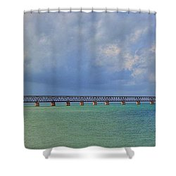 Bahia Honda Shower Curtain by Sean Allen
