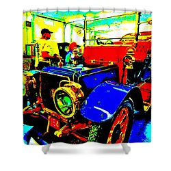 Bahre Car Show II 1 Shower Curtain by George Ramos
