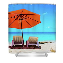 Baie Rouge  Shower Curtain