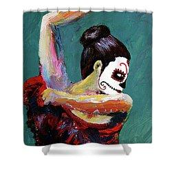 Bailan De Los Muertos Shower Curtain
