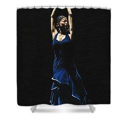 Bailarina A Solas Del Flamenco Shower Curtain by Richard Young