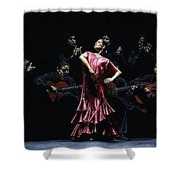 Bailarina Orgullosa Del Flamenco Shower Curtain by Richard Young