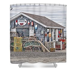 Bailey Island Lobster Shower Curtain by Richard Bean