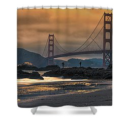 Baker Beach Golden Gate Shower Curtain