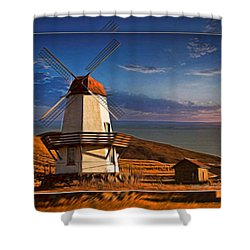 Baker City Windmill_1a Shower Curtain