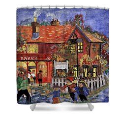 Bakers Inn Winter Holiday Landscape Shower Curtain