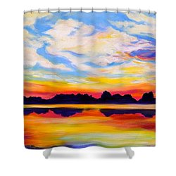 Baker's Sunset Shower Curtain