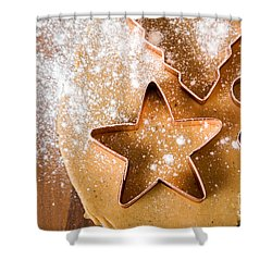 Baking Christmas Cookies Shower Curtain